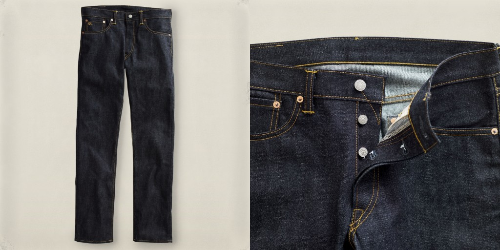 RRL slim-fit rigid jeans at Ralph Lauren