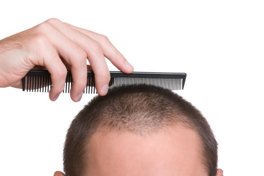 a man combing his hair