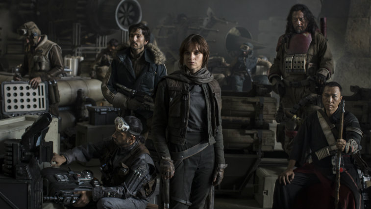 Cast of Rogue One: A Star Wars Story.