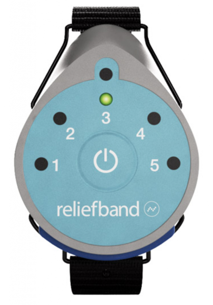 relief band helps with motion sickness and nausea