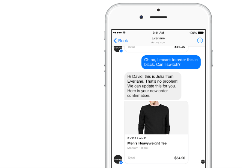 Businesses on Messenger feature, Facebook Messenger