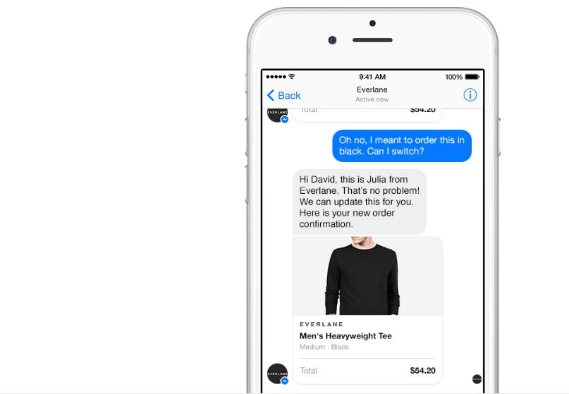 Businesses on Messenger feature, Facebook Messenger