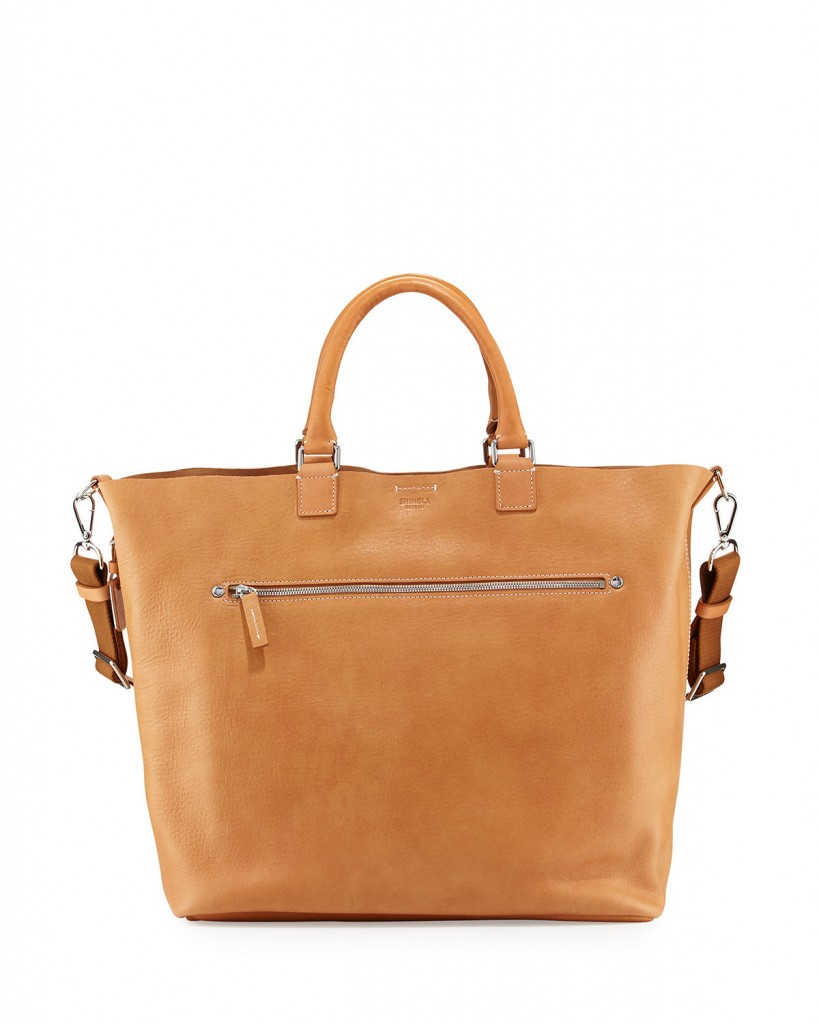Shinola natural leather tote bag