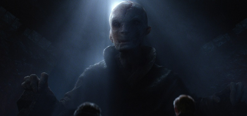 Supreme Leader Snoke in Star Wars: The Force Awakens