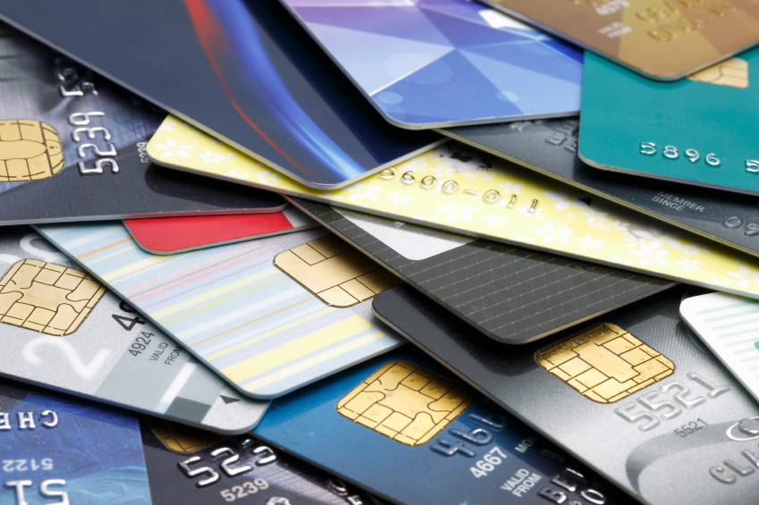 lots of different credit cards