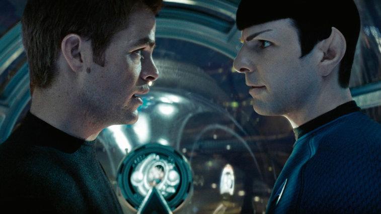 Kirk and Spock in 2009's Star Trek reboot