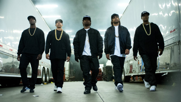 The cast of Straight Outta Compton