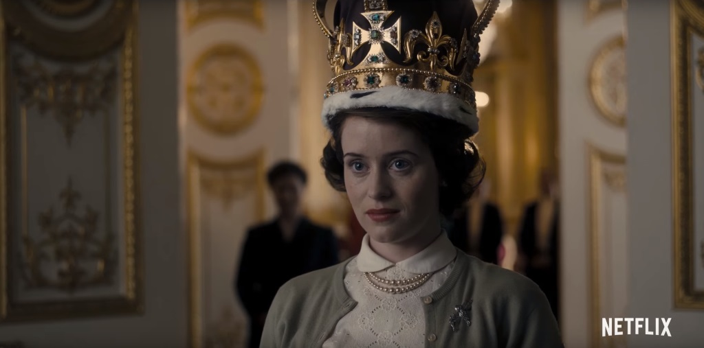 Claire Foy as Queen Elizabeth on The Crown