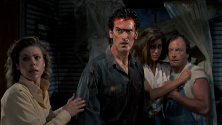 The cast of Evil Dead 2