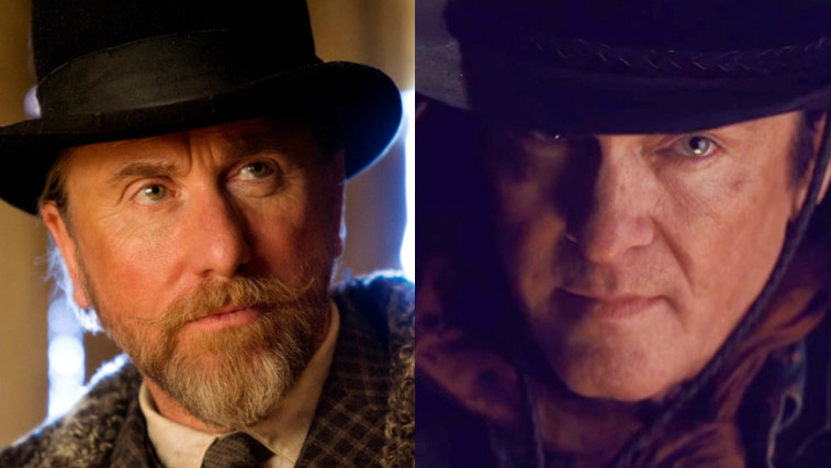 Tim Roth and Michael Madsen in The Hateful Eight