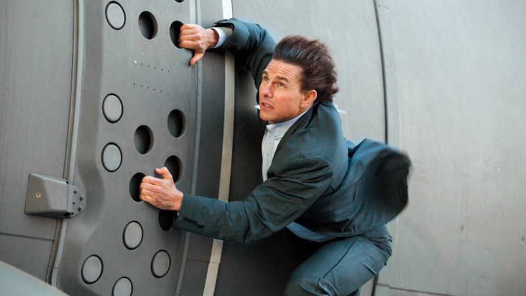 Tom Cruise in Mission: Impossible -- Rogue Nation