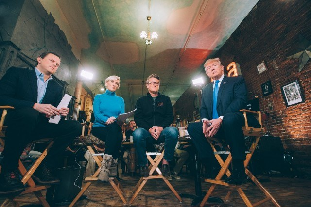 Trump with Morning Joe in Des Moines.