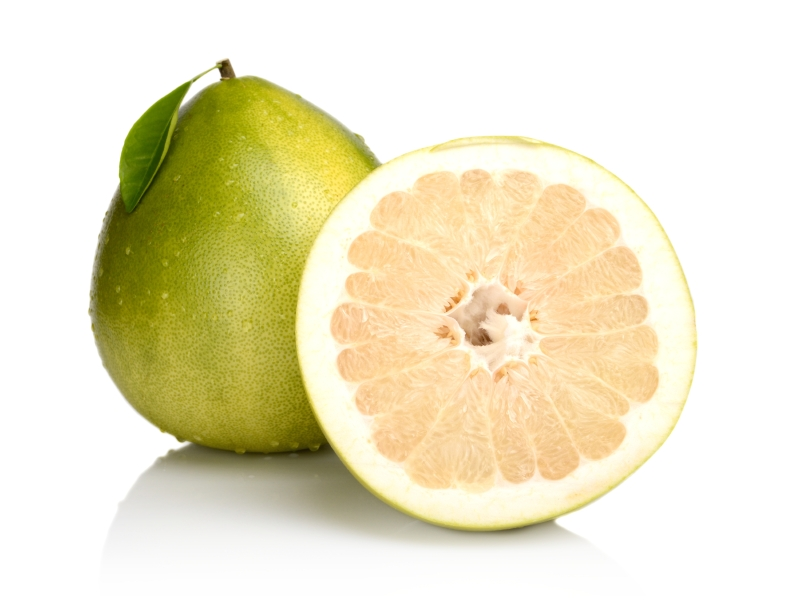 Two pomelos with white background