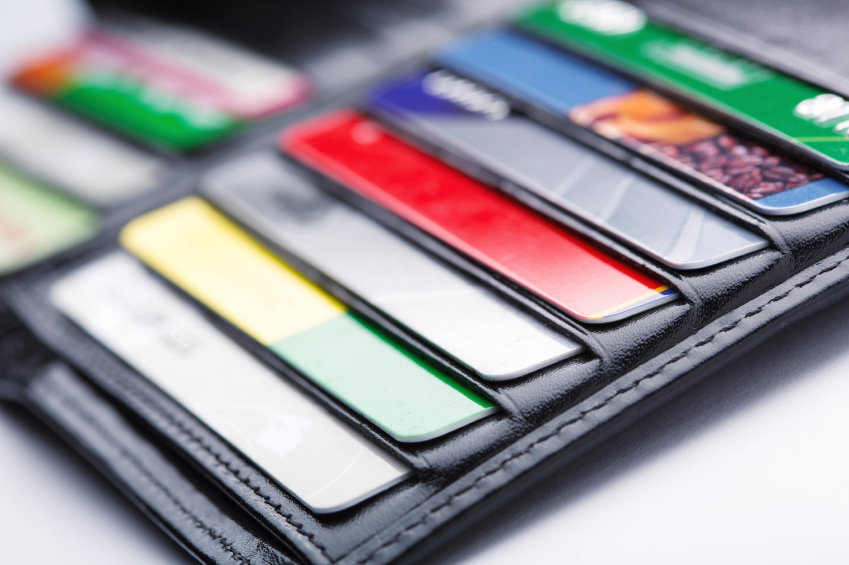 lots of credit cards in a wallet