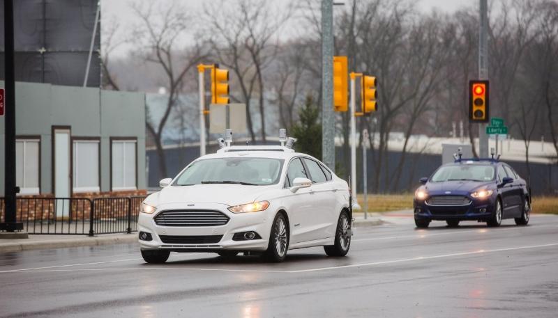 Ford's autonomous Fusion during trials