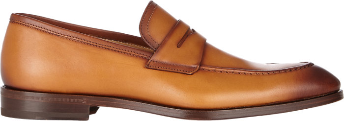 Apron-Toe Loafers in Cognac