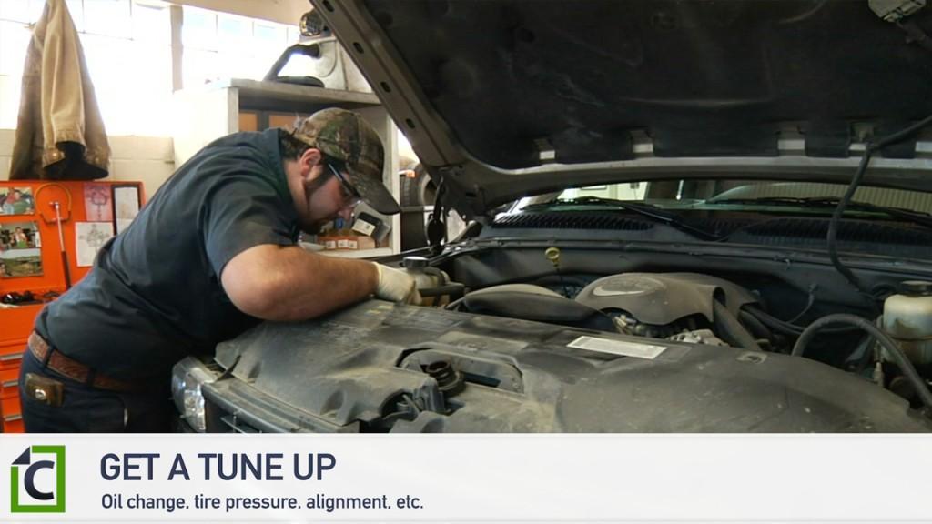 a man working on a car
