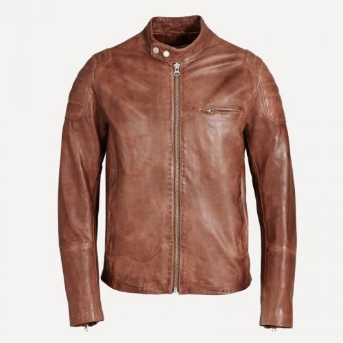 cognac jacket