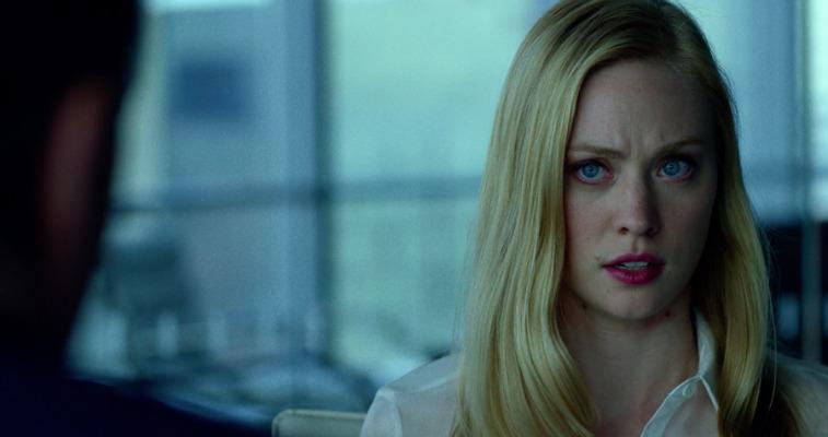 Deborah Ann Woll stares ahead in Daredevil
