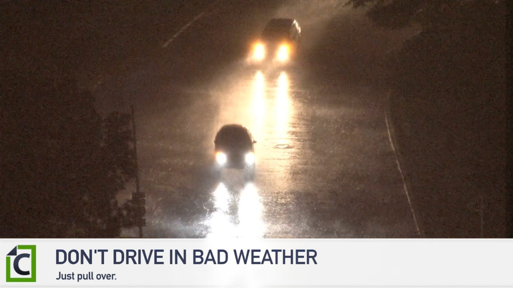 avoid driving in bad weather