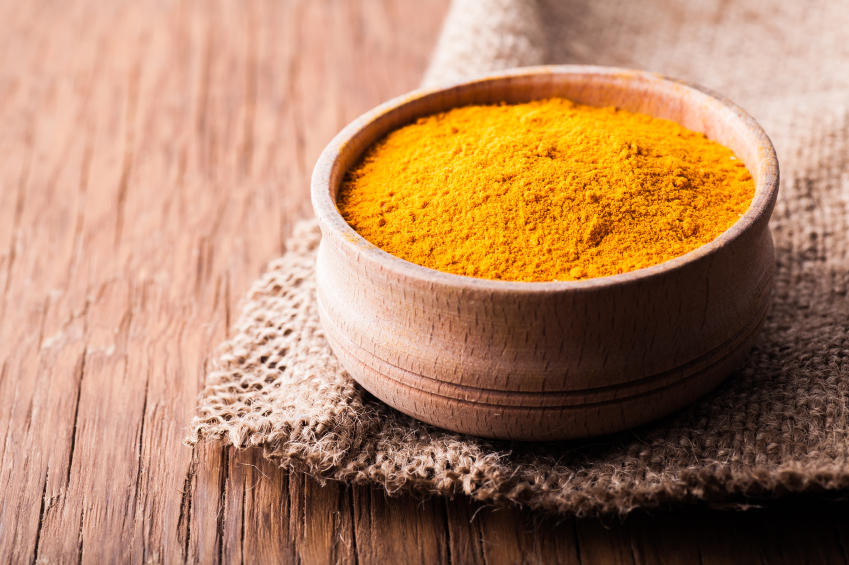 dry spice turmeric in a bowl