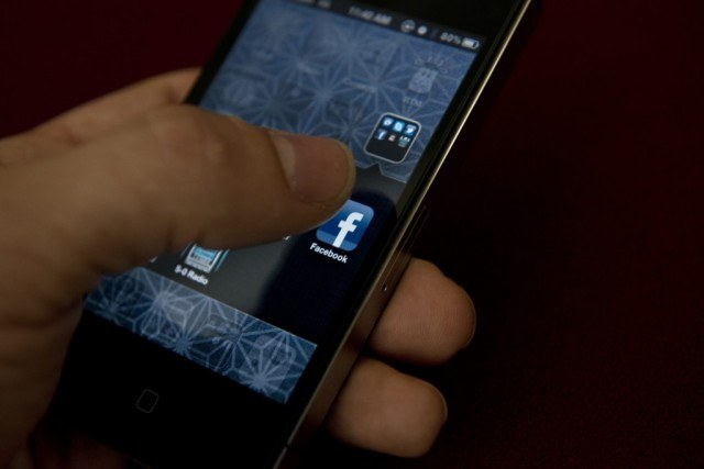 Facebook mobile app on a smartphone