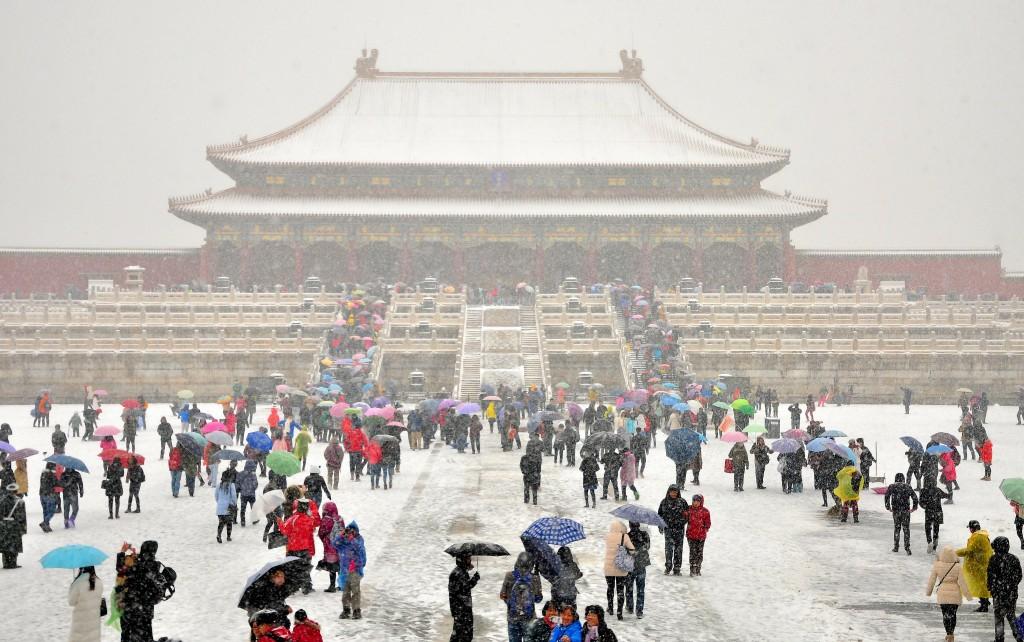 forbidden city in snow
