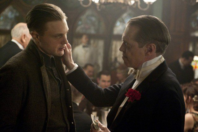 Michael Pitt and Steve Buscemi in a scene from HBO's 'Boardwalk Empire'