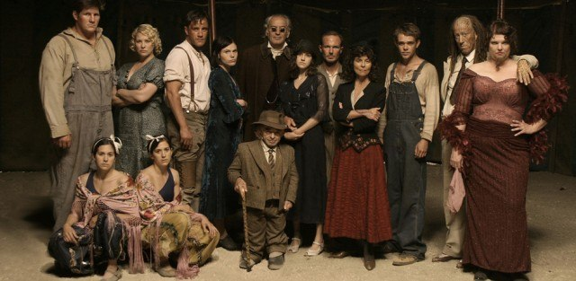 The cast of HBO's drama series, 'Carnivale'