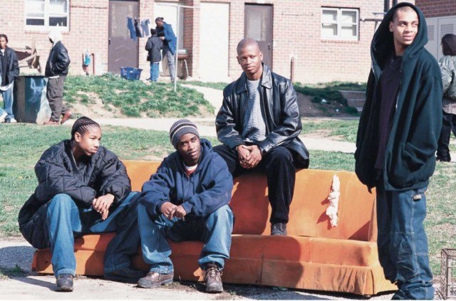 Cast members from the first season of HBO's 'The Wire'