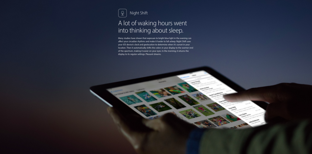iOS 9.3 Night Shift feature