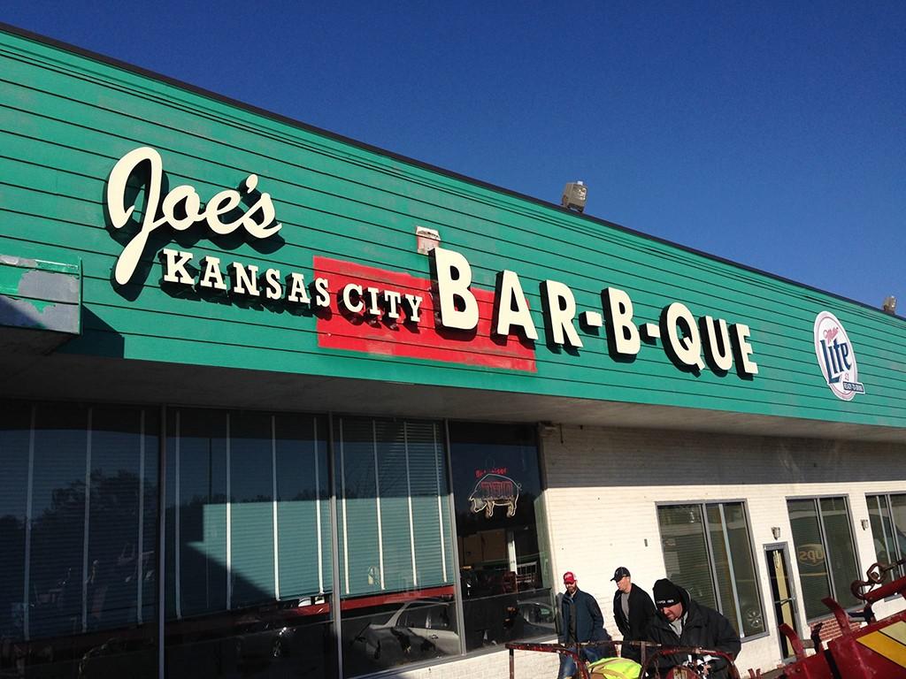Joe's Kansas City Barbecue restaurant front