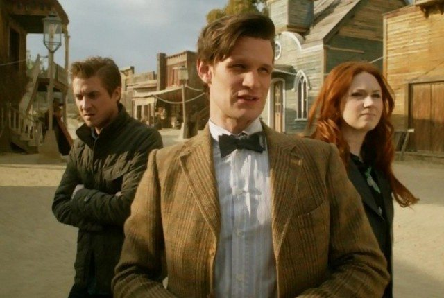 Arthur Darvill, Matt Smith and Karen Gillan in 'Doctor Who'