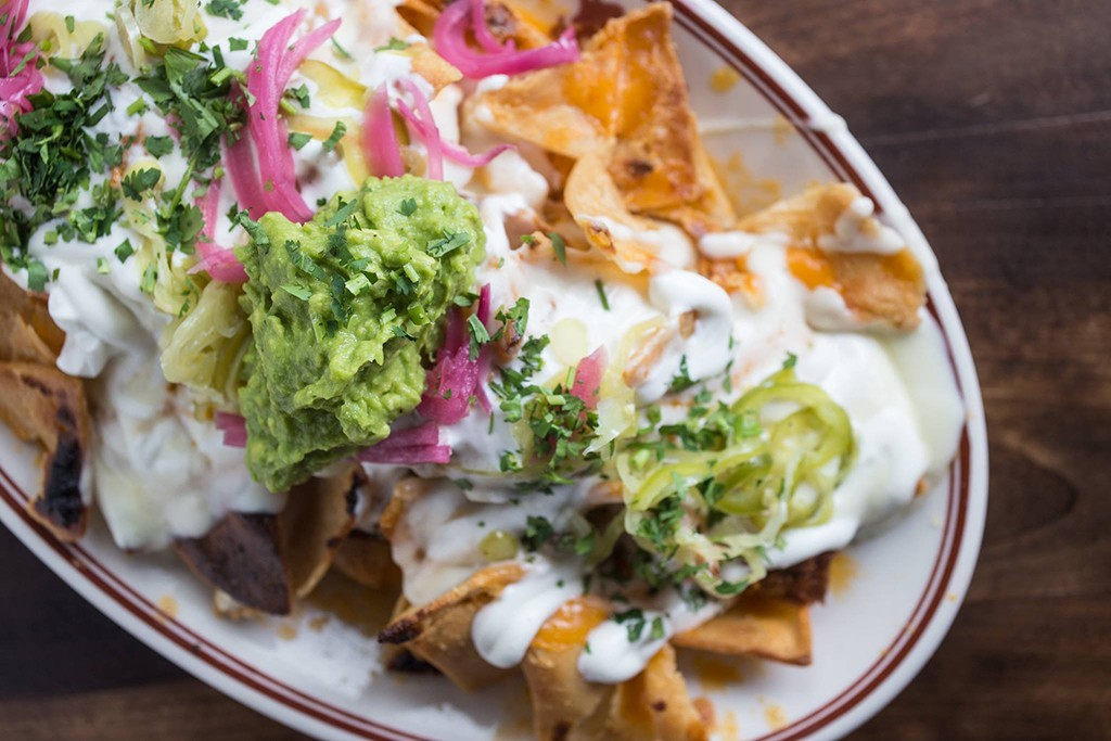 Nachos with guacamole at Little Goat Diner in Chicago
