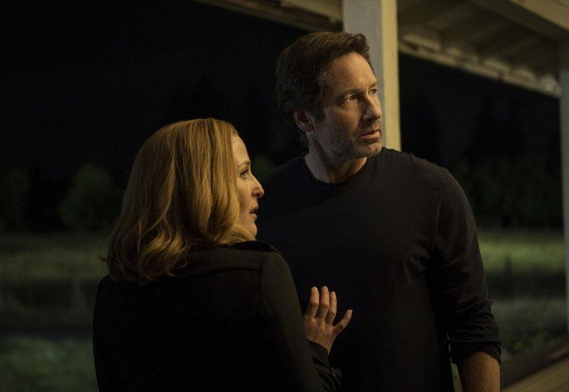 Gillian Anderson and David Duchovny in 'The X-Files'