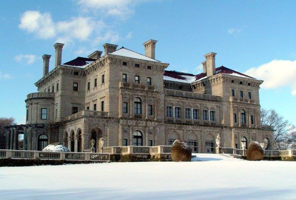 one of the many mansions in Newport, RI