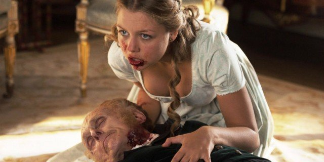 A scene from the 2016 film 'Pride and Prejudice and Zombies'
