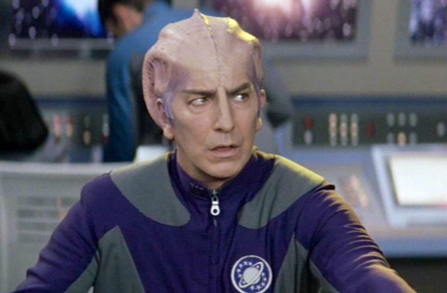 Alan Rickman as Alexander Dane - a.k.a. Dr. Lazarus - in 'Galaxy Quest.'