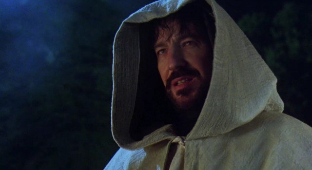 Alan Rickman as the Sheriff of Nottingham in 'Robin Hood: Prince of Thieves'