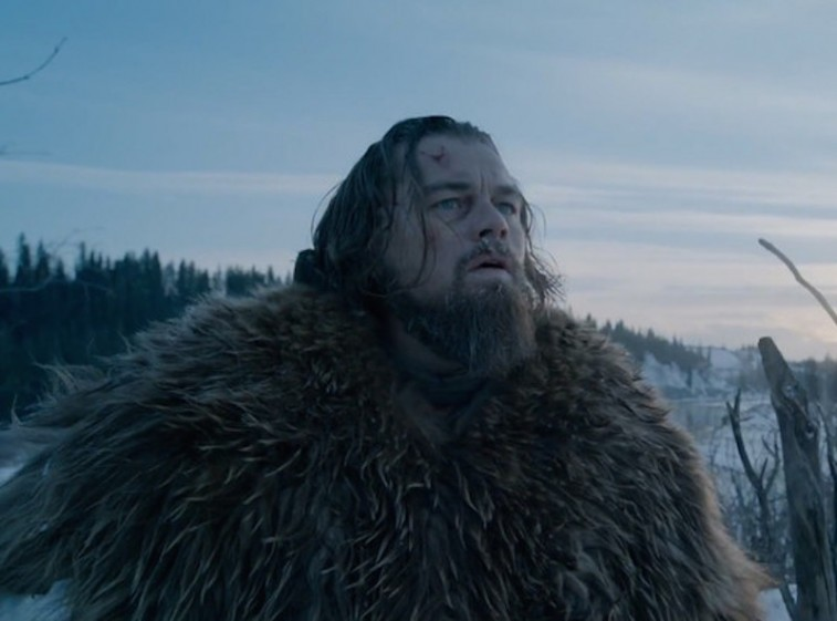 Leonardo DiCaprio in his Oscar-winning portrayal of Hugh Glass in 'The Revenant'