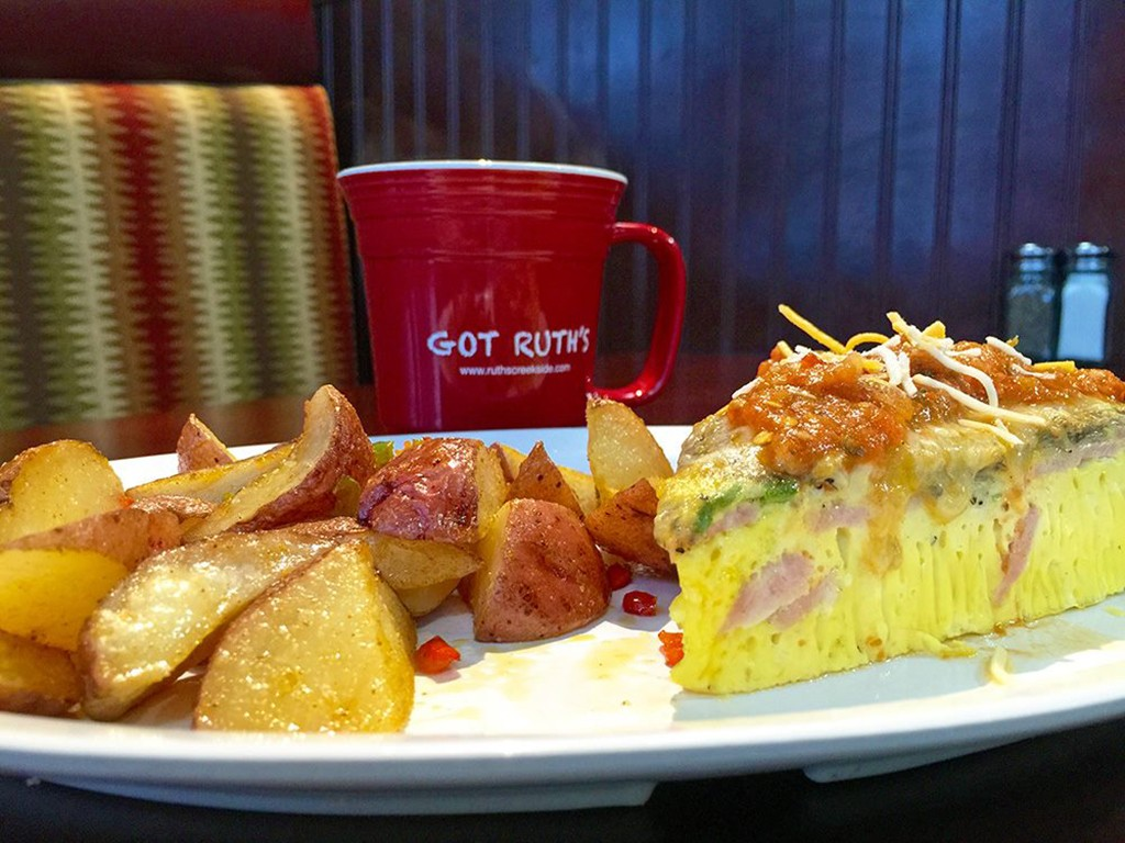 Breakfast potatoes and eggs at Ruth's Diner in Salt Lake city
