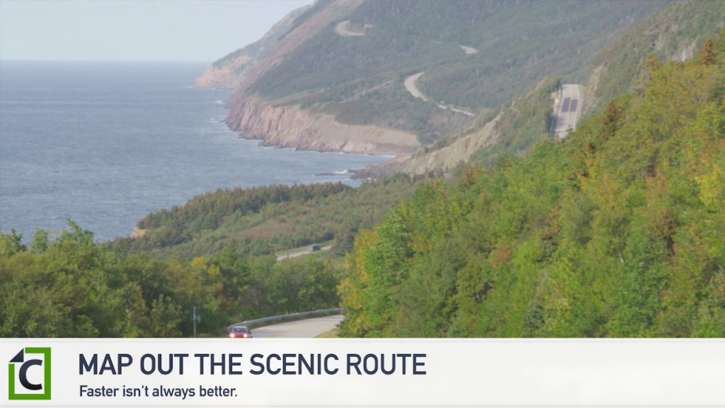 map out a scenic route