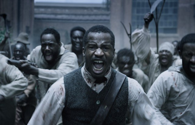 Nat Turner (Nate Parker) runs with his fellow slaves in a scene from 'The Birth of a Nation'