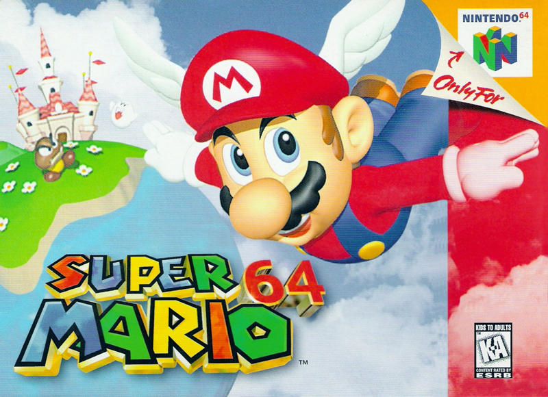 The cover of Super Mario 64, a very influential game for its time.