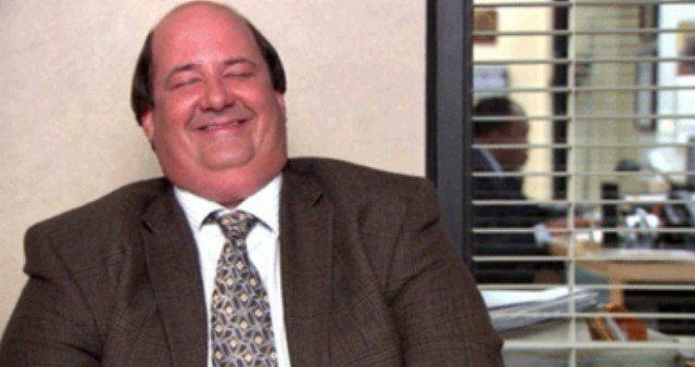 """Kevin from """"The Office"""" laughing"""