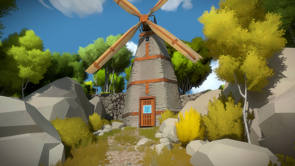 A windmill in the game The Witness.