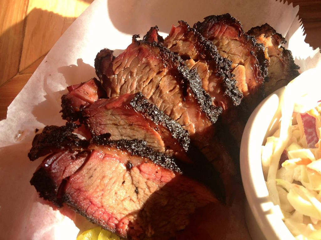 sliced brisket from The Joint barbecue restaurant in new Orleans