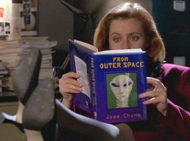 "Gillian Anderson as Dana Scully in 'The X-Files' episode, ""Jose Chung's From Outer Space"""
