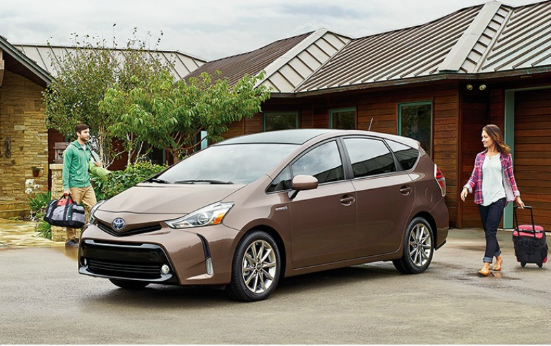 2015 Prius V at family home