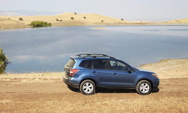 Subaru SUV exploring the land